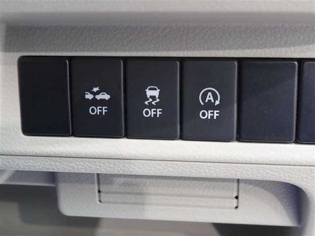 横滑り防止装置、アイドリングストップ機構などのスイッチです。
