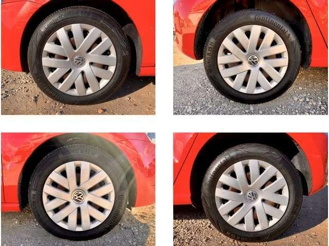 タイヤ溝7割コンチネンタルタイヤ