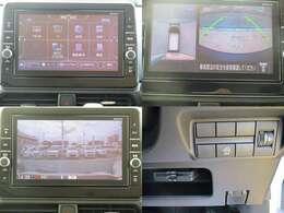 純正9型ナビは大きくて見やすく、ドライブレコーダー・ETCと連動しているので、ナビの位置情報をドラレコに反映させることで録画した映像とその場所を画面上で確認することができます。