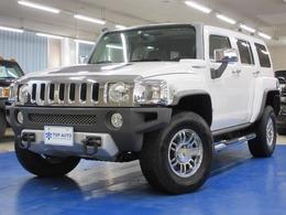 ハマー H3 ラグジュアリー 4WD ディーラー車 サンルーフ 黒革 ナビ TV