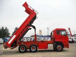 リヤダンプ(リアダンプ)は国内のダンプトラックで普及しているダンプトラックです。