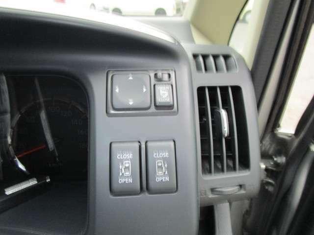 オート格納機能付きミラースイッチ!左右パワースライドドアスイッチ!