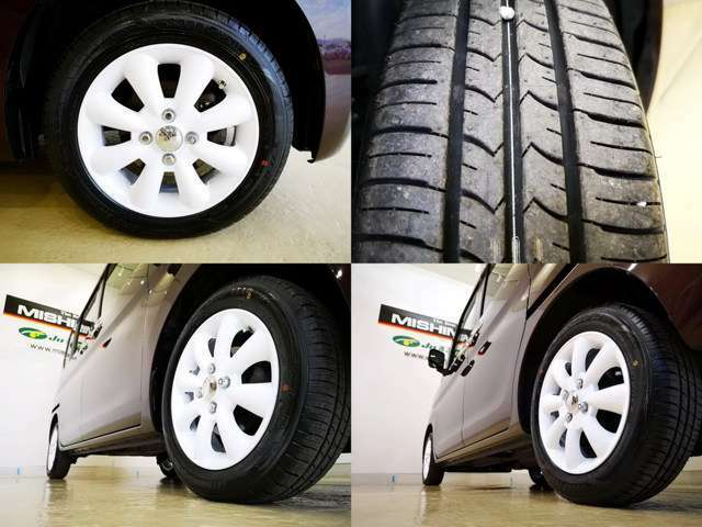 当社にて 新品タイヤとホイール取付済み 次回交換もお財布にやさしいサイズです もちろん 国産タイヤですよ・・・ここ大事です・・・