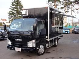 いすゞ エルフ 3.0 フルフラットロー ディーゼルターボ 4WD 移動販売/キッチンC/シンク/冷蔵庫/電源付