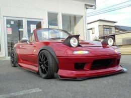 マツダ ロードスター 1.8 Vスペシャル タイプII テイン車高調 フルエアロ ワイドボディ