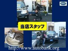 松戸市の中古車販売店、オートバンクのスタッフです!!お車の整備・清掃・登録業務を行っております♪