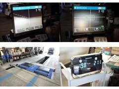 ☆サイドスリップ・スピードメーターブレーキを測定できる最新トリニティテスターとモニター式ヘッドライトテスターを導入☆