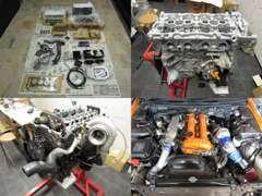 エンジン製作図。サーキットで使用するレース車両のエンジン製作図です。2Lシルビアを、2,2Lにし600馬力に変更しました