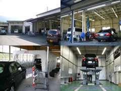 お客様に安心して頂けるよ指定工場完備・自社板金塗装です。車検・修理・点検などアフターサービスもお任せ下さい。