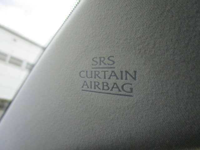 両席にサイドはもちろんカーテンエアバッグも装備されて安心安全です