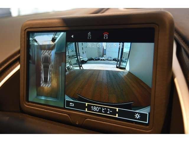 バックカメラはもちろんですが、360度カメラによってより安心してお車を操作いただけます。