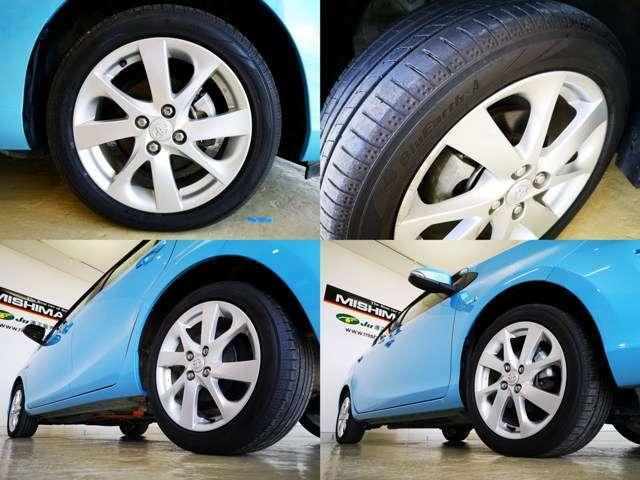 オプション16アルミ装備してますね タイヤも 国産 低燃費エコタイヤ 山もバッチリですよ