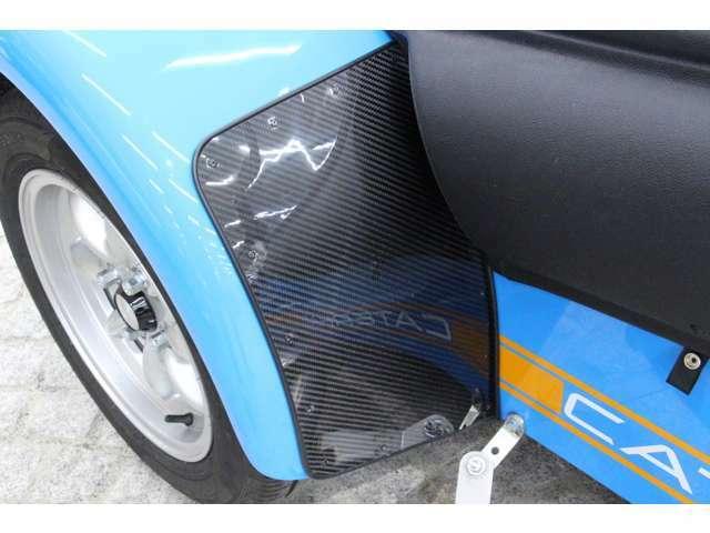 ブラックパックのため、ウイングガード部分がカーボンタイプとなっております。
