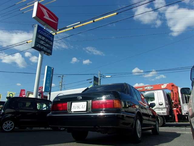 車でお越しの場合は、国道23号線の有松インターで下車して南に向かい2つ目の信号をこえて、すぐ右側にございます。カーセンサーの旗とダイハツのカンバンが目印です!