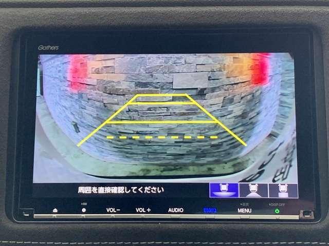 リアカメラがついていて、駐車や後進の際にとても便利です♪