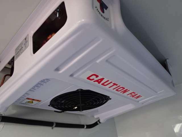 エバポレーターが薄型で庫内が広く使えます