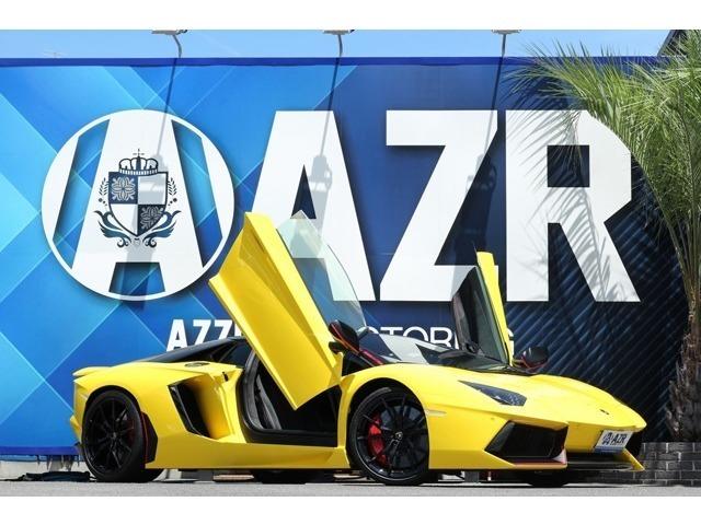 2015y ランボルギーニ アヴェンタドール ピレリエディションロードスター LP700-4 正規ディーラー車  Fiエキゾースト 社外ローダウンロッド 入庫しました!
