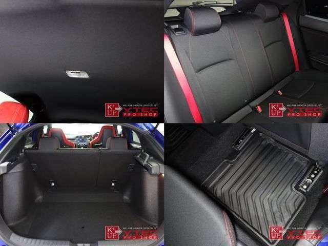 後席シートもレッドステッチ・シートベルトが採用され、よりスポーティな雰囲気になりました。ほとんど使用感なくきれいな状態です。