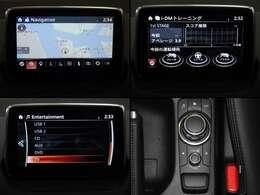 専用装備のナビゲーション、「マツダコネクト」は運転中でも情報が読み取りやすいようにフォントのデザインや行間スペースまで緻密な数値を設定。走行中に目視をするナビだからこそ安全を考えています