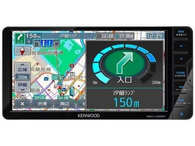 Bプラン画像:ケンウッド7インチワイドナビ!CD・TV(ワンセグ)・Bluetooth・別売りのSDカードをご購入していただければ、音楽録音もできます!