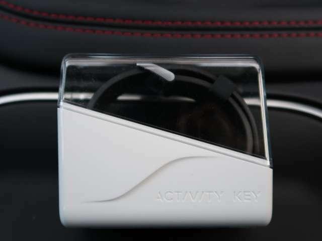 便利装備。趣味にも活かせるアクティビティキーが装備されております。