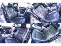 ★【ブラックレザーシート&ヒーター付き】運転席、助手席シートのコンディションをご確認下さい!!★