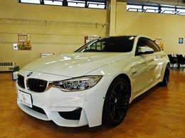 BMW M4クーペ M DCT ドライブロジック /黒革/ドライビングアシスト/19inAW/記録簿