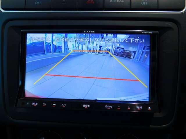 ガイドライン機能付きバックカメラ