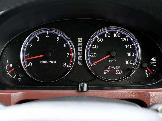 【メーター】現在の走行距離84,492kmでございます。