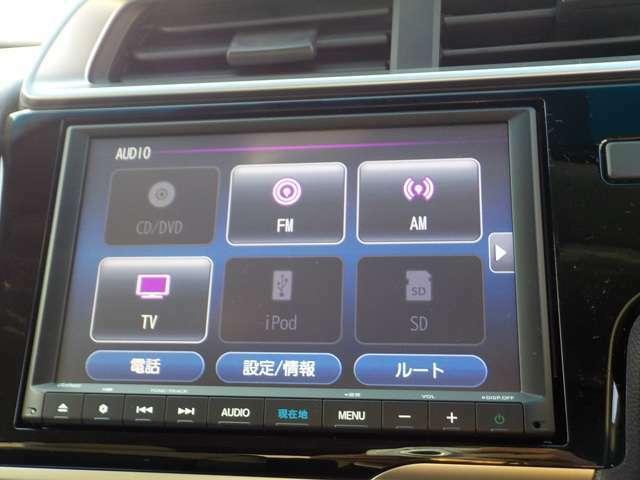 ナビ機能だけでなく、Bluetoothオーディオ、フルセグ、DVD、CDなどのオーディオ機能ついています!