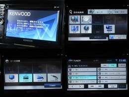 お出掛け嬉しい、Kenwoodメモリーナビ(ワンセグTV)付です♪DVDビデオ再生機能・AUX/USB接続も可能です♪
