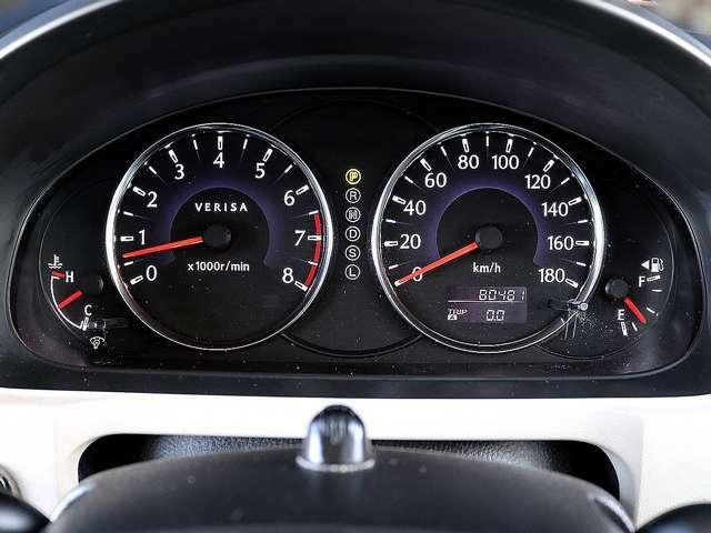 【メーター】現在の走行距離80,481kmでございます。