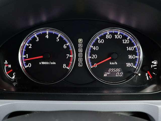 【メーター】現在の走行距離89586kmでございます。