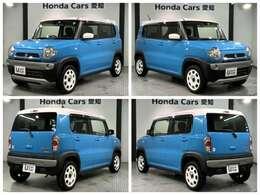 純正メモリーナビ リアカメラ スマートキー ベンチシート装備のスズキの青色のハスラー G入庫しました。