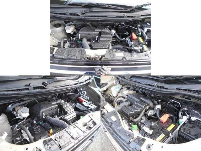 エンジンルームは入庫時に清掃済みです。エンジンルームが綺麗ですと、不具合等の発見もし易く、コンディションのチェックや維持の面でとってもプラスです。ここで気になることは修理しております。