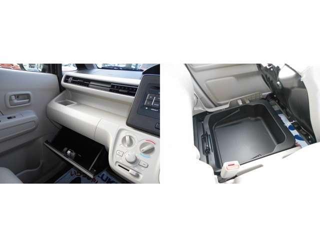 助手席側グローブBOXがついております。車検証等の収納にお使いください。