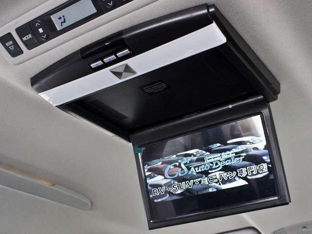 後席モニター装備!ドライブ中同乗者の方も動画をご一緒にお楽しみ頂けます!