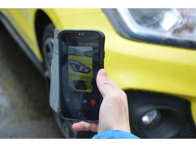 当店では車輛の情報をスマートフォンのカメラのシステムを利用し写真だけではお伝え出来ない情報をリアルタイムでお伝え出来るサービスを行っております!!