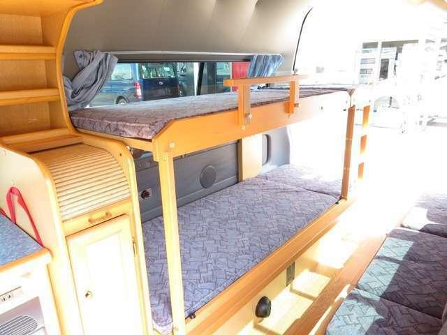 後部2段ベッド!上段180×60、下段180×70!