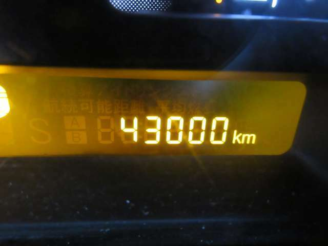 走行距離は約4万3千kmです。まだまだ走れますのでモコと一緒にぜひお出かけしましょう!