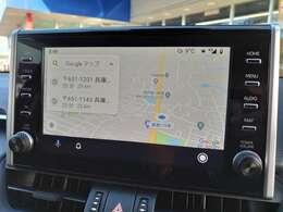 【携帯のGoogleマップを繋ぐだけ】 ◆正直ディスプレイオーディオは難しいと懸念しておりましたが、本当に便利で高機能です♪ ボイスタッチで入力簡単 マップオンデマンドでいつでも最新の道案内が可能に!!