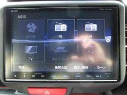 ブルートゥース、USB接続、CD/DVD、フルセグテレビの視聴など機能が多彩な純正ナビを搭載しています。
