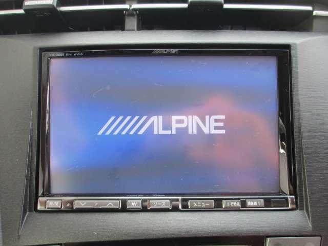 アルパイン8型大型ナビ・CD録音・DVD視聴可能!