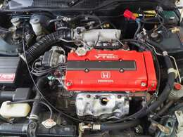 インテグラ タイプR B18Cエンジン換装 公認済み。エンジンの調子も良好です。