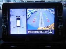 ◆◆◆まるで真上から見ているかのように見えますアラウンドビューモニターです。駐車が苦手な方でもこれでらくらく駐車できますよ。