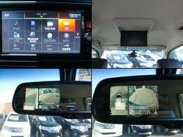 録音可能な純正SDナビは地デジフルセグTVにブルートゥースオーディオも対応♪純正フリップダウンモニターに全方位アラウンドビューカメラも標準装備です♪