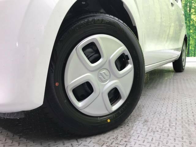 ●純正13インチホイールキャップ装備。各種アルミホイール+タイヤやスタッドレスのセットもお取扱いございますのでご検討の方はスタッフまでご相談ください。