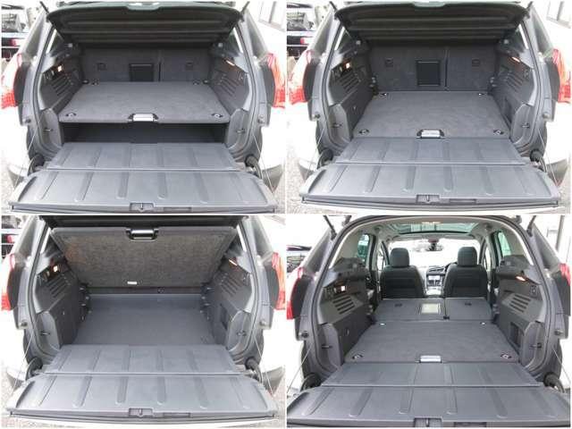 上下開きのハッチバックドアがアクティブなあなたにお勧め♪耐荷重ありますのでベンチとしても使用OK。3段調整式ラゲッジボードやワンタッチ式の可倒式リアシートが機能的◎車中泊できる位の広さがあります♪
