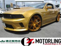フォード マスタング V8 GT クーペ プレミアム フルエアロ黒革SDナビ地デジ走行証明書付き