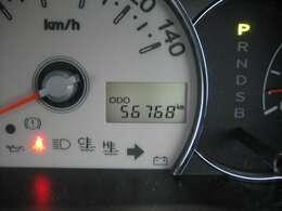 走行距離はおよそ56,800km